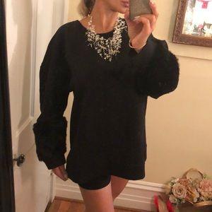 Simply Vera black faux fur too 2XL